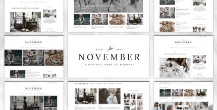 November 1.0 – Multipurpose Personal WordPress Blog and Magazine Theme
