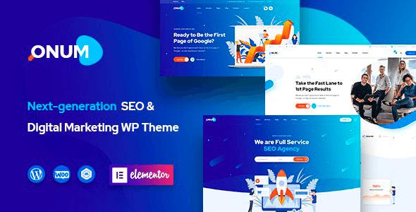 Onum 1.2.6 – SEO & Marketing Elementor WordPress Theme