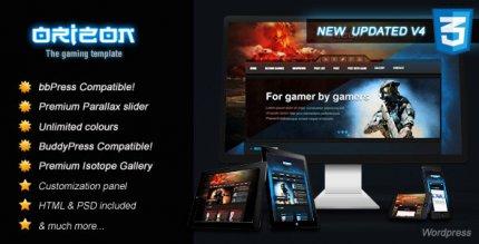 Orizon 4.4 – The Gaming Template WP version