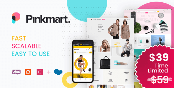 Pinkmart 3.0.3 NULLED – AJAX theme for WooCommerce