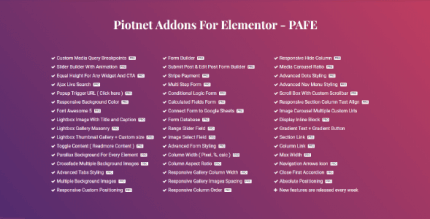 Piotnet Addons For Elementor Pro 6.3.67 NULLED