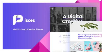 Pisces 2.1.0 – Multi Concept Creative Theme