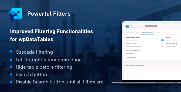 Powerful Filters for wpDataTables 1.2.1 – Cascade Filter for WordPress Tables