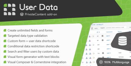 privatecontent-user-data-addon