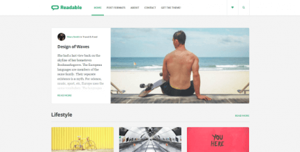 Readable 2.3.2 NULLED –  WordPress Theme for Bloggers, Journalists, Magazines and News Agencies
