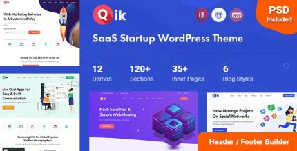 Qik 1.0.3 – SaaS Startup WordPress Theme