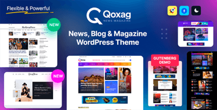 Qoxag 1.1.1 – WordPress News Magazine Theme