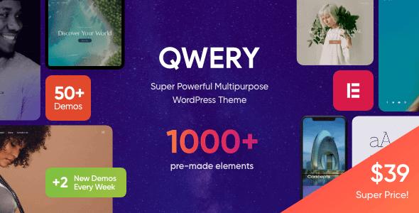 Qwery 1.1.1.1 NULLED – Multi-Purpose Business WordPress Theme + RTL