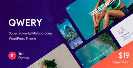 Qwery 1.0.3 NULLED – Multi-Purpose Business WordPress Theme + RTL