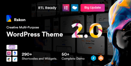Rakon 2.0 – Creative Multi-Purpose WordPress Theme
