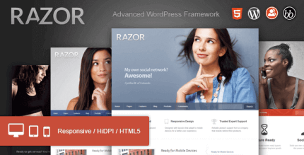 Razor 1.1.9.7 – Cutting Edge WordPress Theme