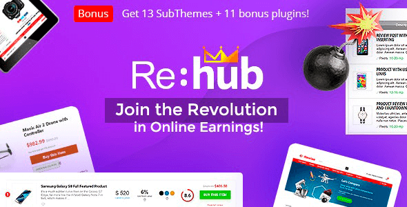 REHub 16.8.3 NULLED – Directory Shop Coupon Affiliate Theme