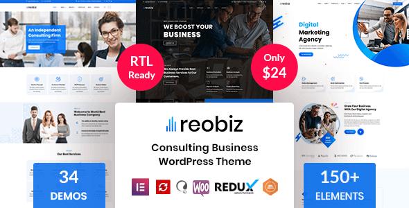 Reobiz 4.7.1 – Consulting Business WordPress Theme
