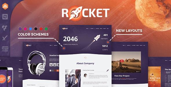 Rocket 2.9.2 NULLED – Creative Multipurpose WordPress Theme