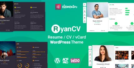 RyanCV 2.0.8 – CV Resume Theme