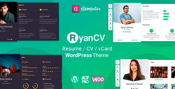 RyanCV 2.0.7 – CV Resume Theme