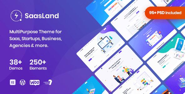 SaasLand 3.3.7 NULLED – MultiPurpose WordPress Theme for Saas & Startup