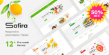 Safira 1.0.7 – Food & Organic WooCommerce WordPress Theme