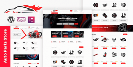 Sayara 1.1.6 NULLED – Auto Parts Store WooCommerce WordPress Theme