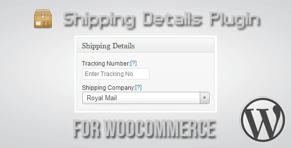 Shipping Details Plugin for WooCommerce 1.8.0.5