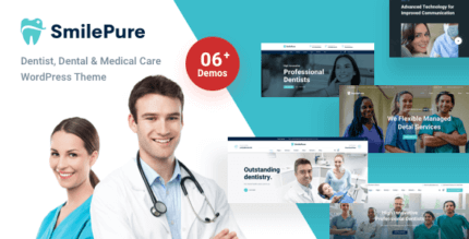 SmilePure 1.1.9 – Dental & Medical Care WordPress Theme