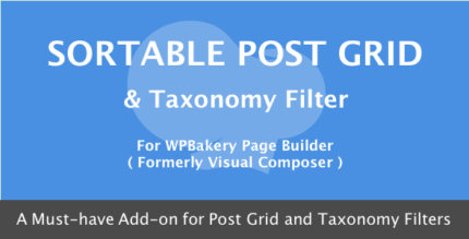 Sortable Grid & Taxonomy Filter 3.4.0