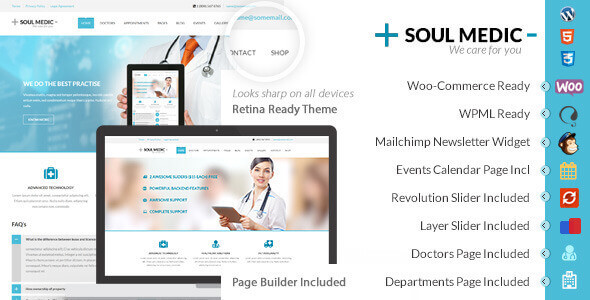 SoulMedic 4.5 – Flat Responsive Medical & Health Theme