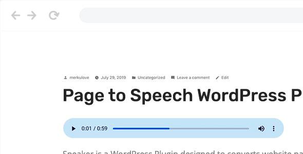 Speaker 3.2.6 – Page to Speech Plugin for WordPress