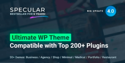 Specular 4.1.8 NULLED – Responsive Multi-Purpose Business Theme