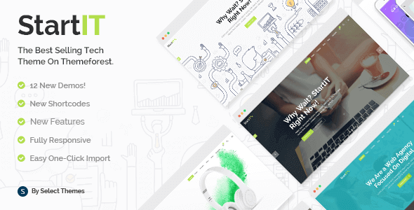 Startit 4.2.1 NULLED – A Fresh Startup Business Theme