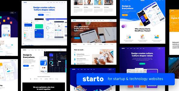 Starto 1.7.4 NULLED – Saas Software Startup WordPress