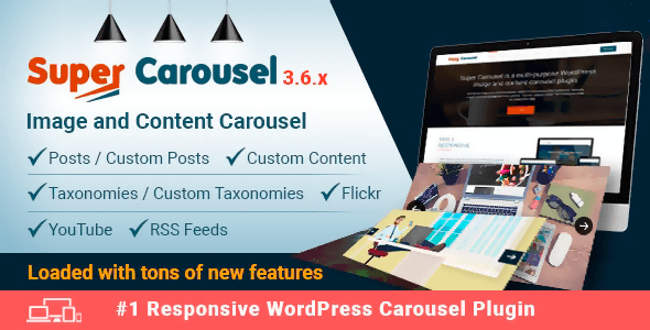 Super Carousel 3.7.8 – Responsive WordPress Plugin