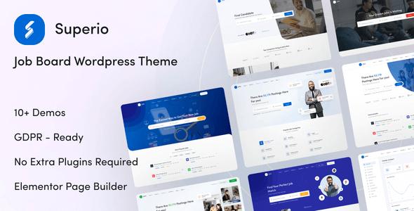 Superio 1.1.4 – Job Board WordPress Theme
