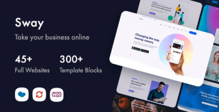 Sway 1.5 NULLED – Multi-Purpose WordPress Theme with Page Builder