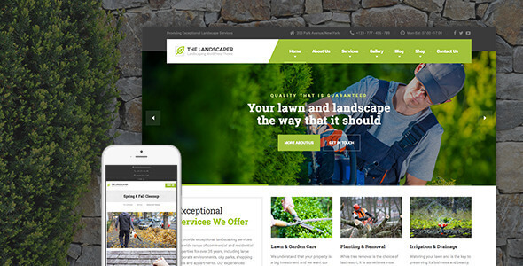 The Landscaper 2.6.1 – Lawn & Landscaping WP Theme