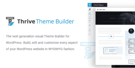 Thrive Theme Builder 3.0.2 NULLED + Omni & Shapeshift Themes