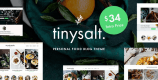TinySalt 1.11.0 – Personal Food Blog WordPress Theme