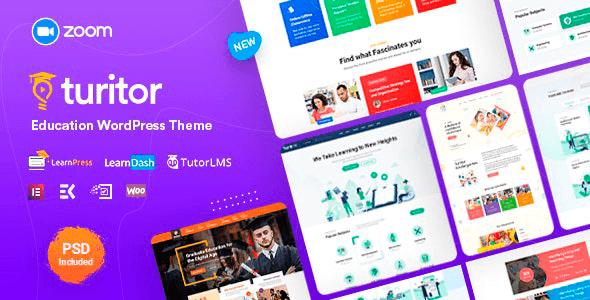 Turitor 1.3.8 – Education WordPress Theme