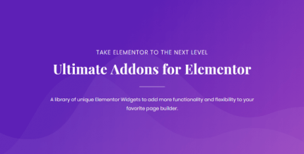 Ultimate Addons for Elementor 1.30.2 NULLED