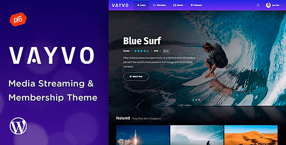 Vayvo 3.7 – Media Streaming & Membership Theme