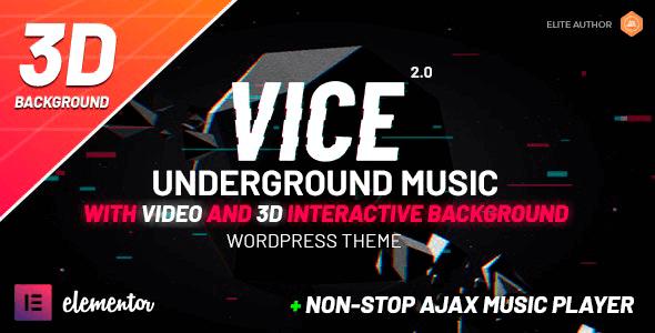 Vice 2.1.8 NULLED – Music Band, Dj and Radio WordPress Theme