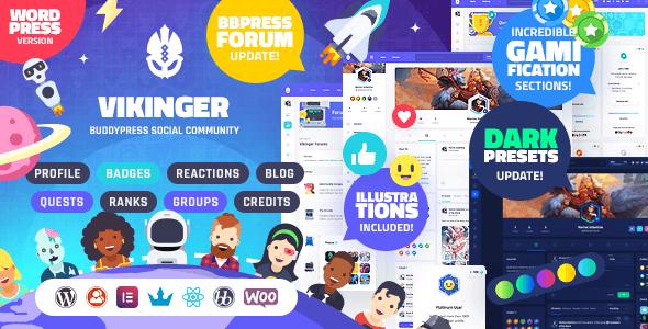 Vikinger 1.6.3 – BuddyPress and GamiPress Social Community