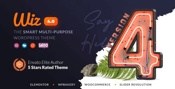 Wiz 4.0.10 NULLED – The Smart Multi-Purpose WordPress Theme