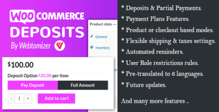 WooCommerce Deposits 3.2.8 – Partial Payments Plugin