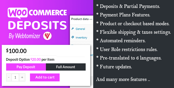 WooCommerce Deposits 3.2.10 – Partial Payments Plugin