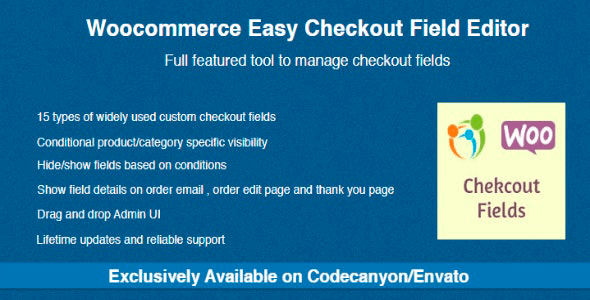 WooCommerce Easy Checkout Field Editor 2.3.1