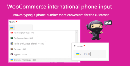 WooCommerce International Phone Input 2.1.1