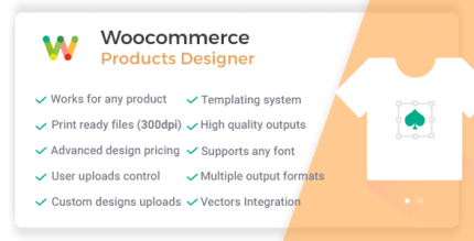 WooCommerce Products Designer 5.5.1 – Online Customizer Tool for Shirts Cards or any Web to Print Shop