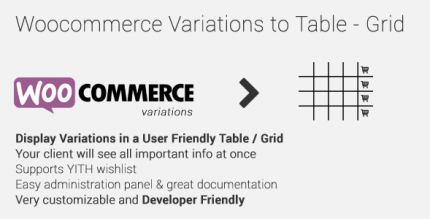 WooCommerce Variations to Table-Grid 1.4.0