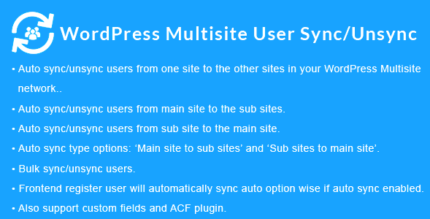 WordPress Multisite User Sync/Unsync 2.0.0 NULLED